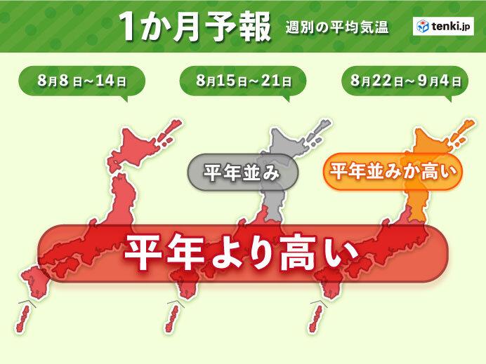 暑さの出口が見えず 9月にかけても熱中症警戒 1か月予報