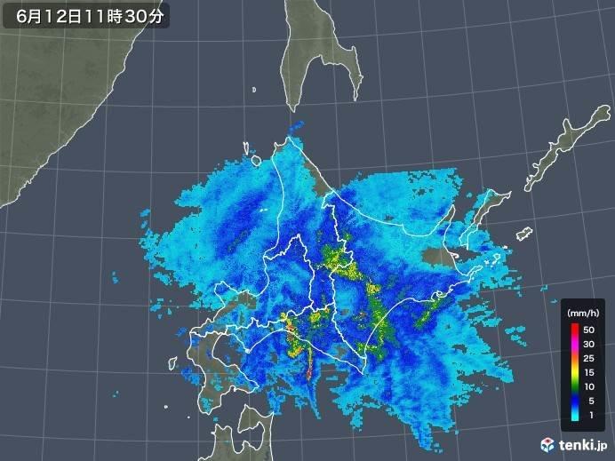 北海道 午後は東部で雨のピーク