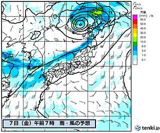 元台風4号 再発達し接近へ 暴風や激しい雨の恐れ