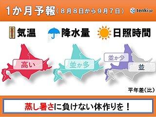 北海道の1か月予報 北海道らしい夏はどこへ…