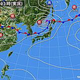 7日 北海道は雨と風が強く荒れた天気 東北日本海側も大雨のおそれ