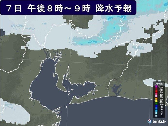 7日夜の愛知県の天気
