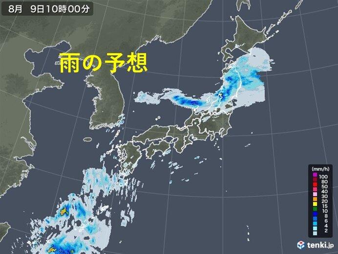きょうの天気と気温 東北、北陸 大雨警戒