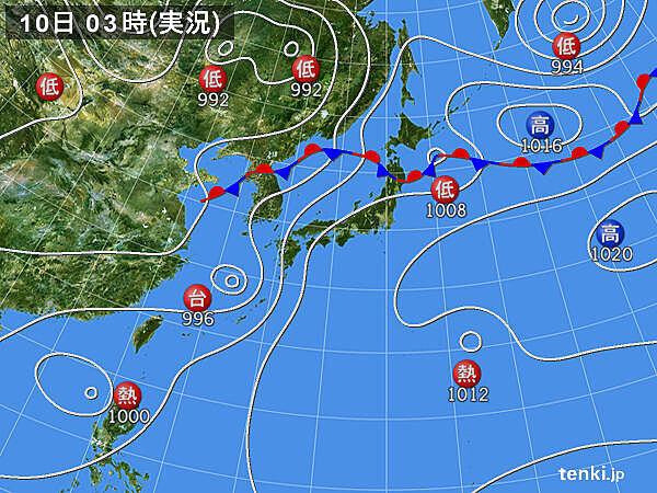 10日 台風5号は九州北部に接近へ 新たに台風発生か 広く猛暑