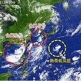 台風5号 九州北部に最接近 6号に次いで7号も発生へ
