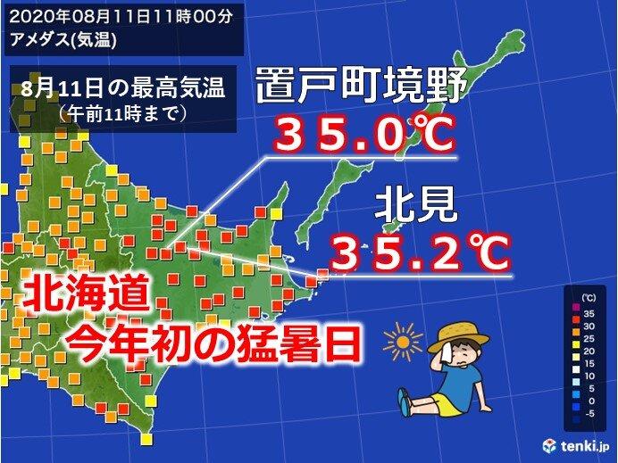 北海道も危険な暑さ 今年初猛暑日に