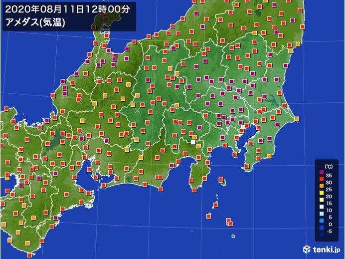 関東気温上昇中 危険な暑さに