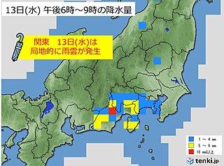 関東 水曜も急な雨に気をつけて