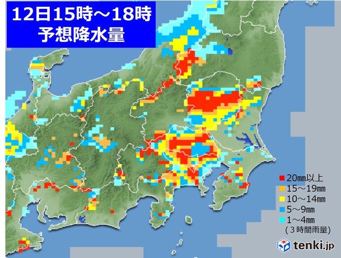 関東 突然の強い雨や雷雨に注意 道路が冠水するような降り方も