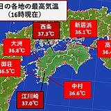 四国 厳しい暑さはこの先もしばらく続きそう
