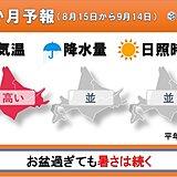 北海道の1か月 「お盆過ぎれば秋」は昔の話? 今年も残暑厳しく