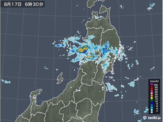 東北は前線停滞 日本海側を中心に雨