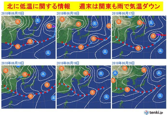 気温差大 週末は雨で一気に季節戻る
