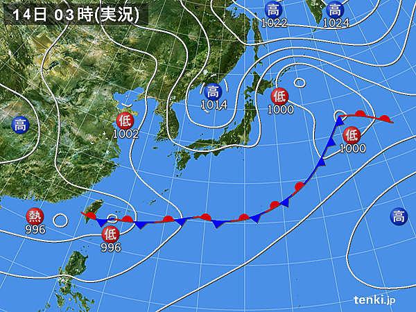 14日 九州から東北 梅雨の晴れ間
