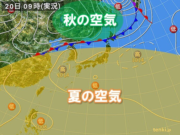 東北北部でも38℃近くに 北海道では日中の気温20℃くらい