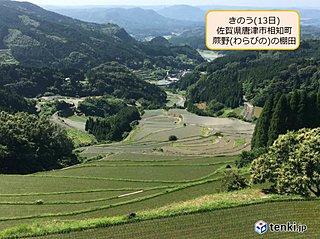 九州 棚田の田植えも進む