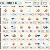 8月下旬 ピーク越えも厳しい残暑 南の熱帯低気圧は台風になる可能性も