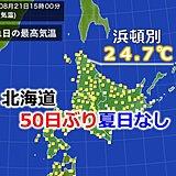 昨日の北海道は50日ぶり夏日なし 今日は?