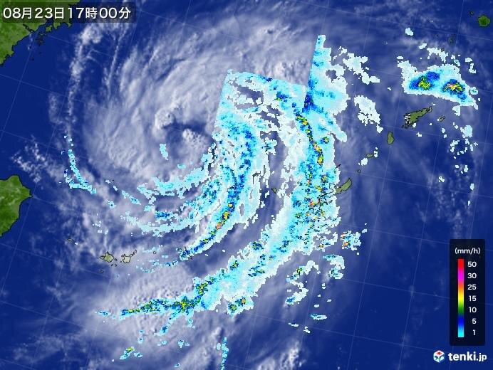台風8号BAVIの特徴 「強い勢力」で「動きが遅い」
