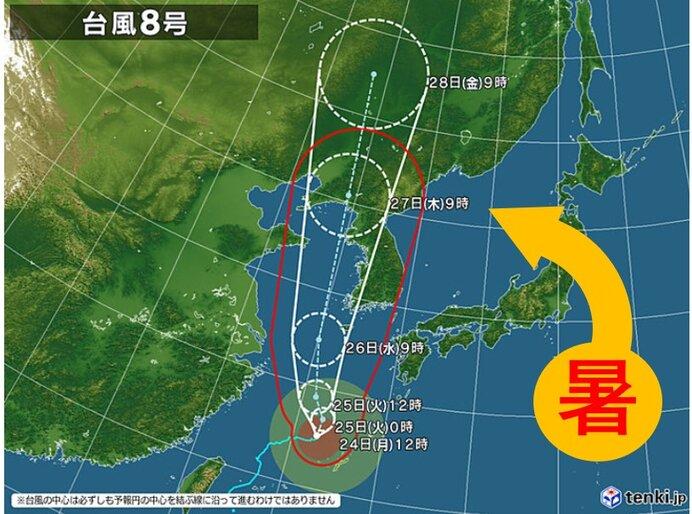 東北 厳しい残暑 台風8号の間接的な影響_画像