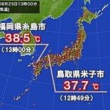 九州や中国で今年一番の暑さ フェーンで気温上昇 台風8号影響