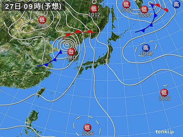 台風8号の予想進路 この後非常に強い台風に発達