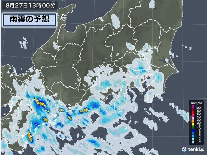 東京都内も雨に