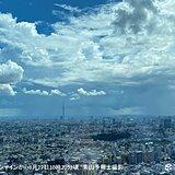 関東南部で雨雲が発達中 都内も急な激しい雨に注意