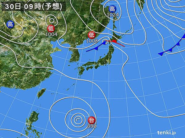 日曜日から 沖縄・奄美は 次の台風の影響か