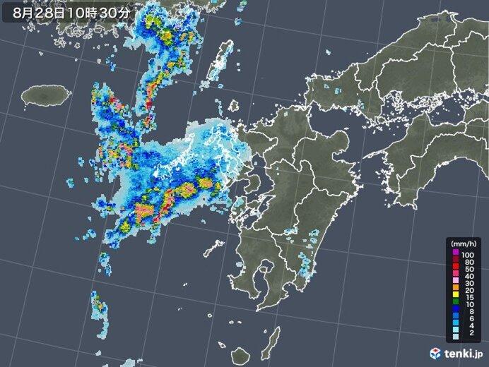 不安定な天気 一時激しい雨も
