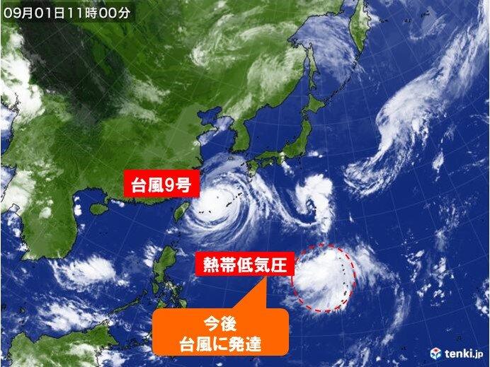 中国地方 週末にかけて相次ぎ台風接近のおそれ