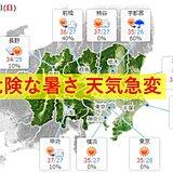 30日 関東甲信 晴れて不安定 猛暑まだ続く