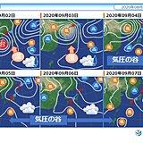 中国地方 台風9号に警戒、その後いったん酷暑おさまる