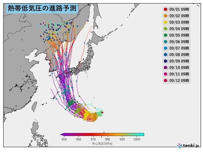 台風10号も発生か