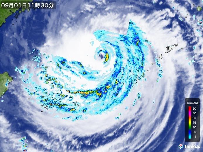 台風9号 非常に強い勢力を保ち北上中 沖縄は1日夜まで警戒