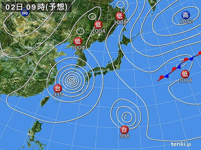 あす2日(水)夏の空気に入れ替わり日本海側を中心に真夏日