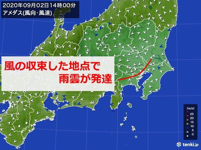 都心にもカミナリ雲 関東は帰宅時間帯も急な雨に注意_画像