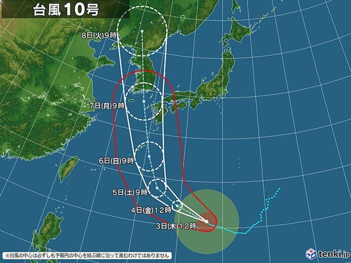 台風10号の影響は 強風と猛暑のおそれ