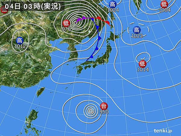 4日 全国的に変わりやすい天気 急な雨や雷雨 台風10号はさらに発達