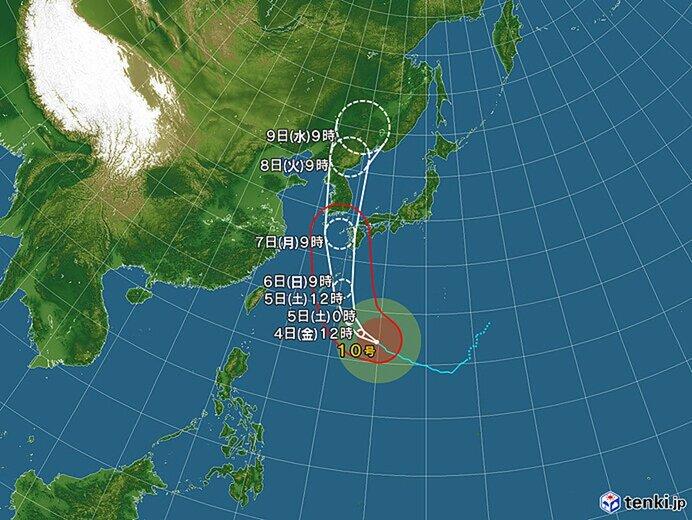 台風10号の進路と特徴