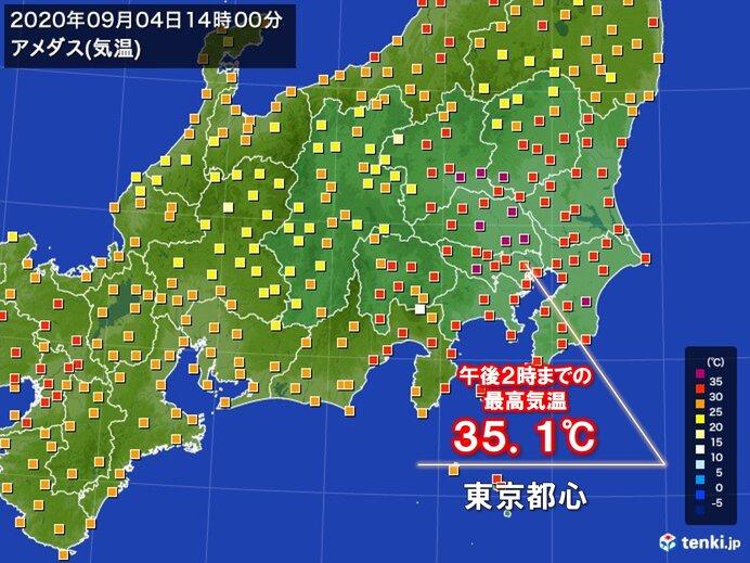 関東で広く猛暑日 東京都心も6日ぶりに35℃以上
