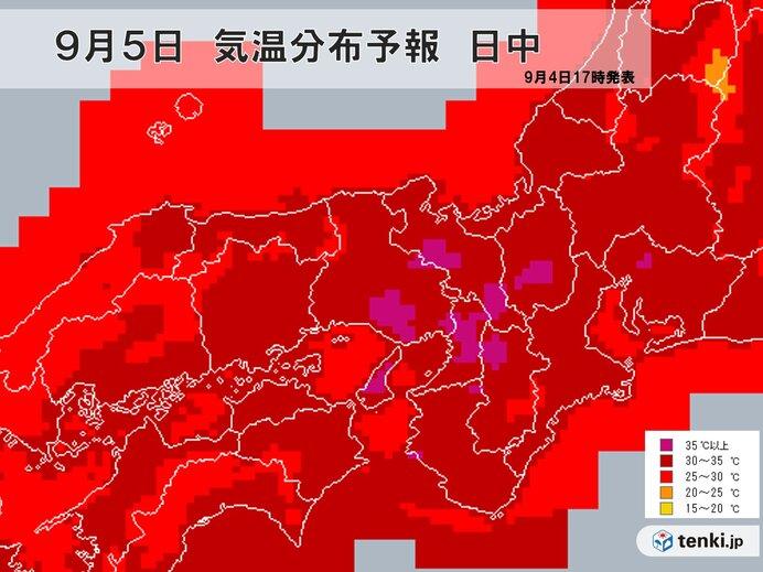 関西 5日は台風10号で猛暑 6日7日は南部で大雨の恐れ