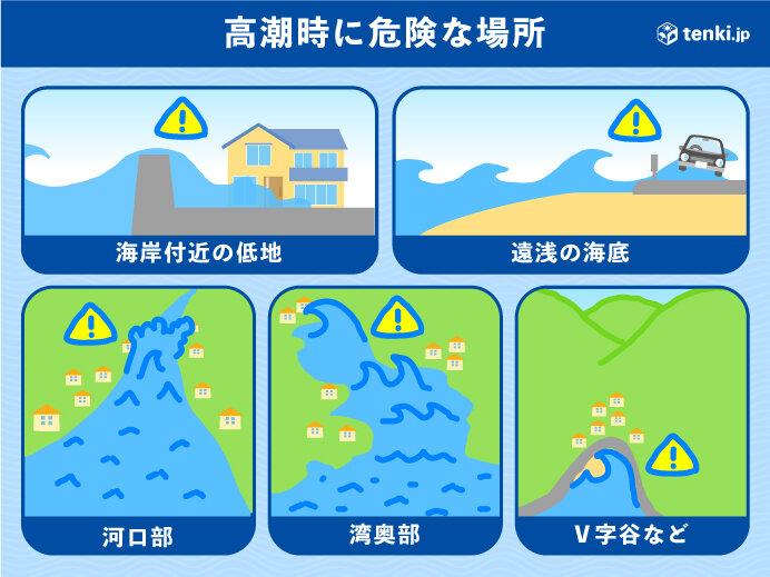 記録的な高潮の恐れ