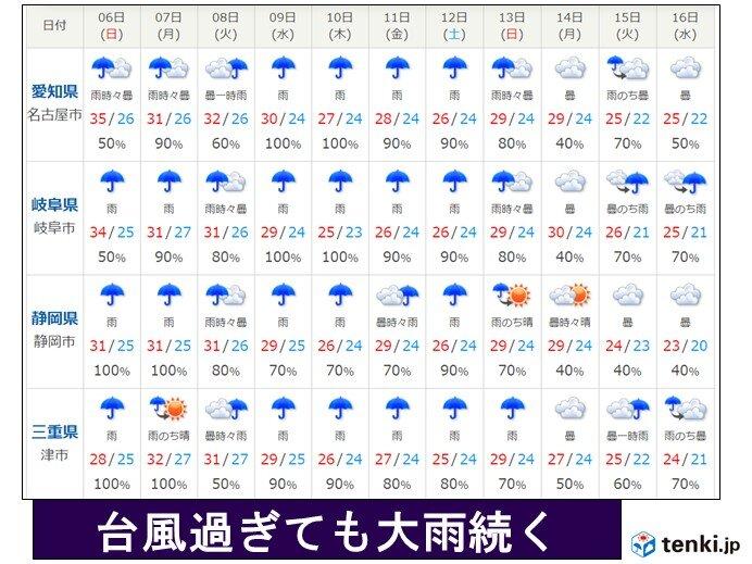 9日以降も大雨に警戒