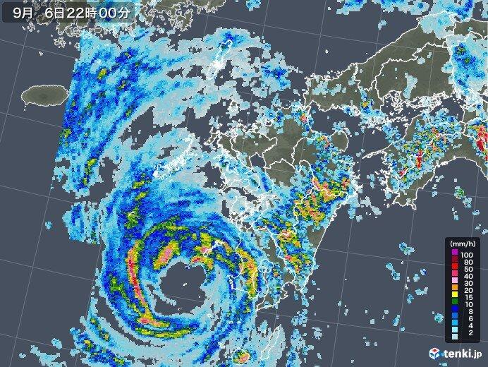 24時間降水量 宮崎県で500ミリ超え