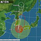 台風10号の影響 九州北部は夜間に30度超え