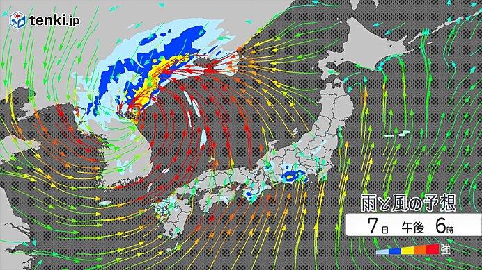 台風10号は朝鮮半島へ 吹き返しの風に注意