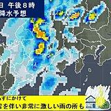 東海地方 今夜以降再び大雨のおそれ