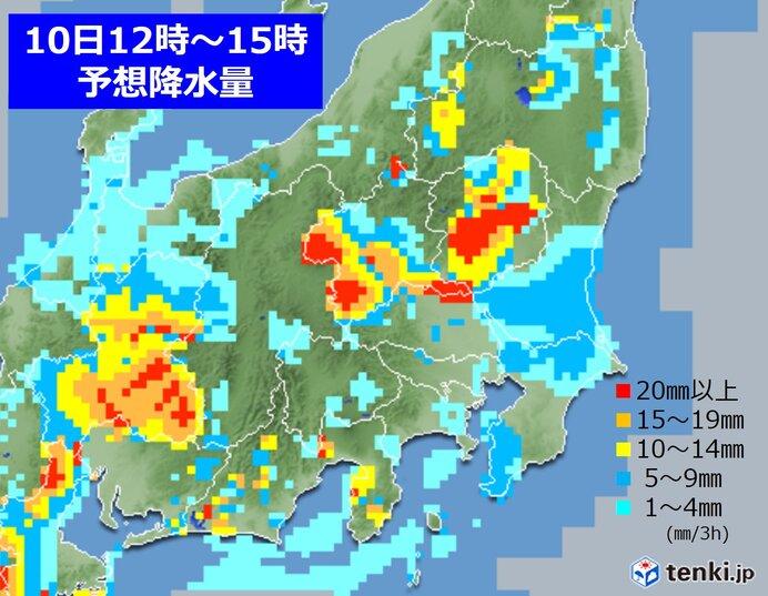 あす 変わりやすい天気 晴れマークの所も急な雨に注意