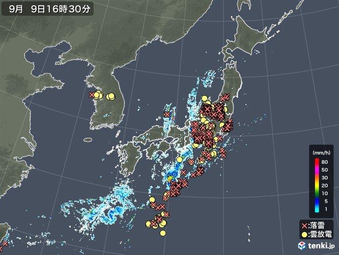 東海~関東甲信中心に「落雷」多発 今夜~あすも急な「激しい雷雨」に注意